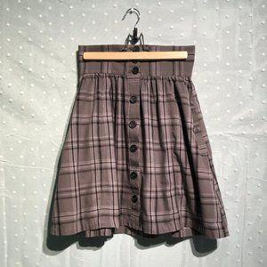 H&M gray plaid skirt